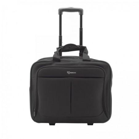Monaco Trolley case 17.3 inch - Zwart