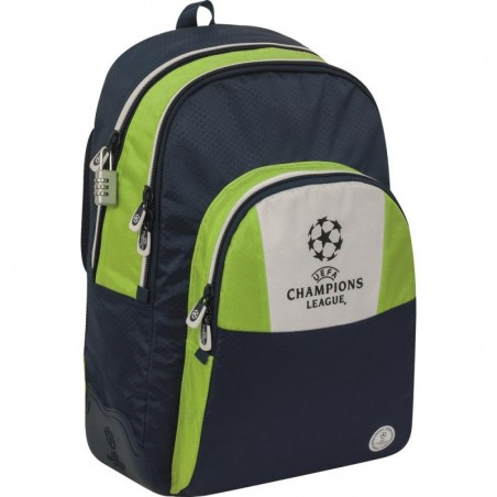 Champions League - Rugzak - 44 cm - Groen met blauw - Jongens