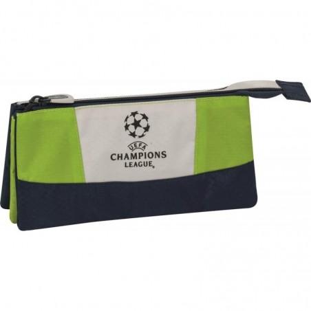 Champions League - Etui - 3 Vakken - Groen met blauw - Jongens