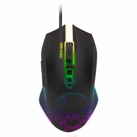 Spirit of Gamer Elite M40 RGB gaming muis - 4000 dpi-  7 programmeerbare knoppen