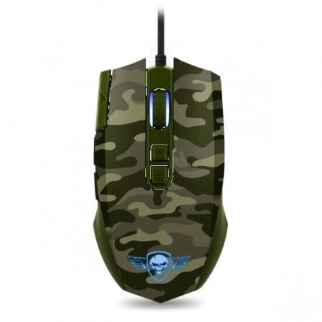 Spirit of Gamer Elite M50 army edition 4000 dpi gaming muis met LED verlichting