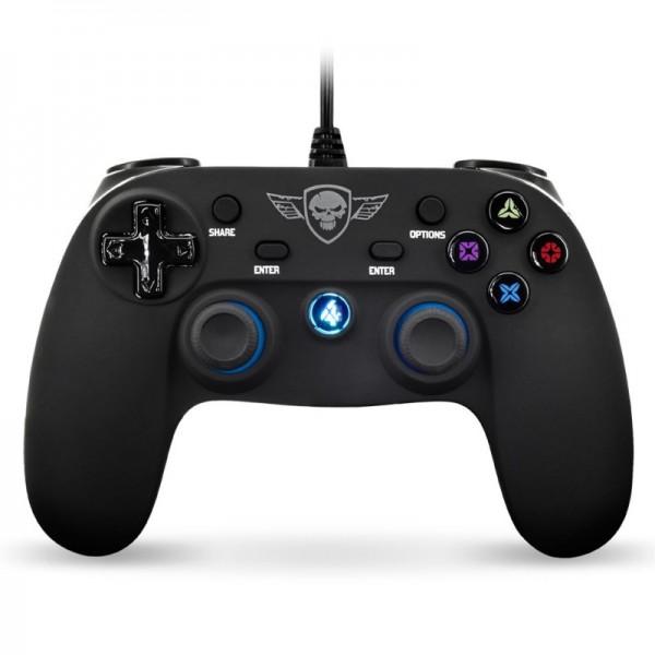 Spirit of Gamer - Wired Playstation 4 Controller - PS4 - Zwart - LED