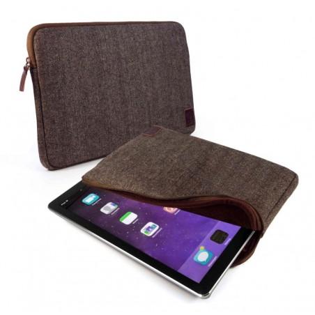 Herringbone Tweed Sleeve voor de Apple Ipad Pro 12.9 inch - Bruin