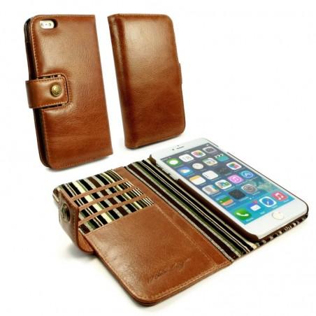 Alston Craig - Vintage Genuine Leren portemonnee Case voor de Apple iPhone 8 - Bruin