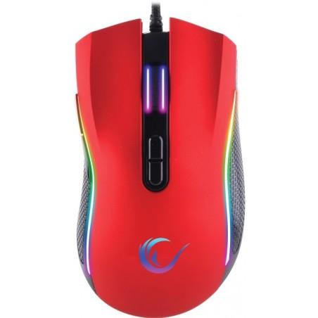 Rampage SMX-R44 macro RGB gaming muis - 6400 DPI - Rood