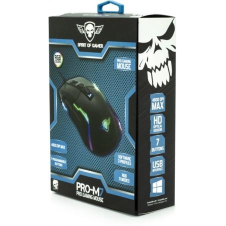 Spirit of Gamer PRO-M7 4800 dpi RGB programmeerbare gaming muis