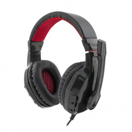 White Shark Panther Black/Red Gaming Headset