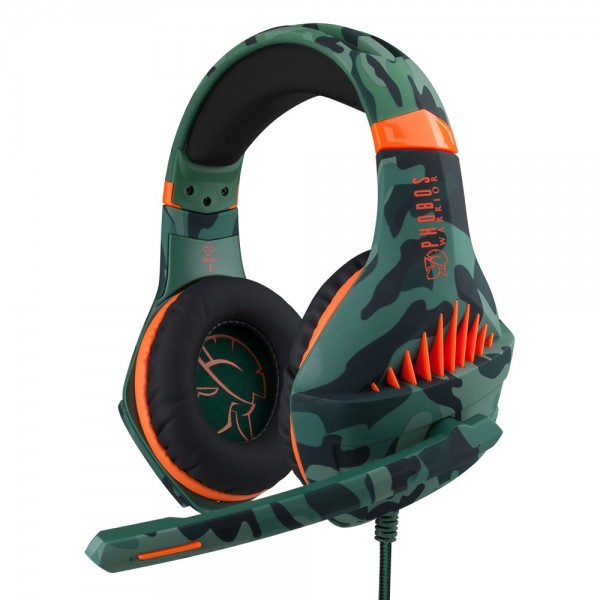 Phobos Warrior gaming headset - Multiformat (PS4/PC/XBOX/Switch) - HD stereogeluid - 3.5 mm jack