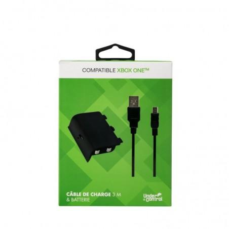 Under Control - Oplaadkabel en batterij voor de Xbox One - 3 meter- zwart