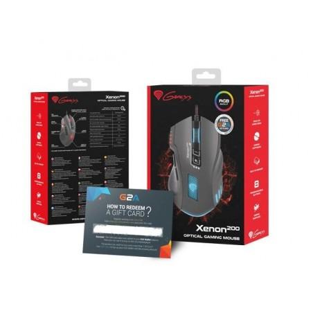 Genesis Xenon 200 RGB - Optische Gaming Muis - 3000 DPI - Inclusief software
