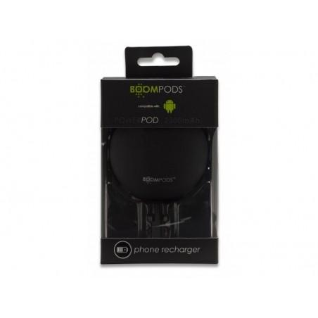 Boompods Power Banks 2300mAh Powerpod - Android Version - Zwart