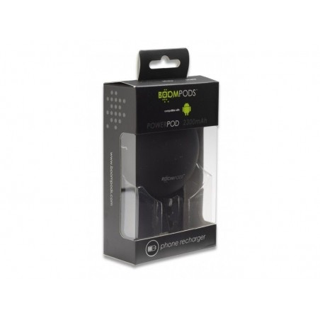 Boompods Power Banks 2300mAh Powerpod - Android Version - Zwart