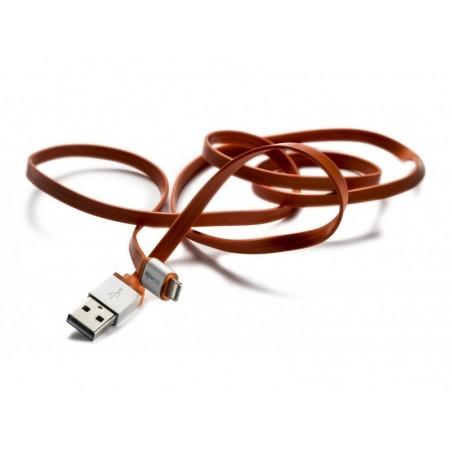 Boompods Platte Kabel Flatline (1 meter) - Micro USB voor Android - Oranje