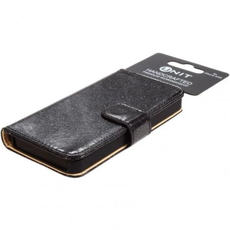 Unit Flip Glitter PU-leren hoesje voor iPhone 6 / 6S  – Zwart