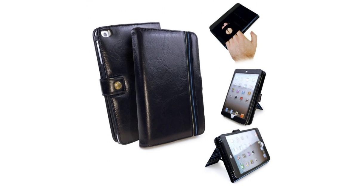 Alston Craig vintage Lederen omsluitend Pro hoes Apple iPad Mini/ Retina/ Mini 3 Slaap functie Zwart