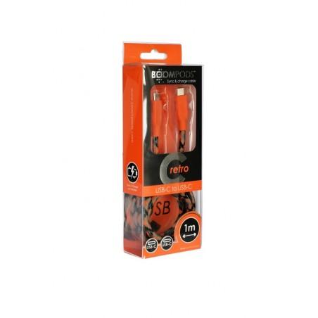 Boompods Retro type C USB kabel (1 meter) - Oranje