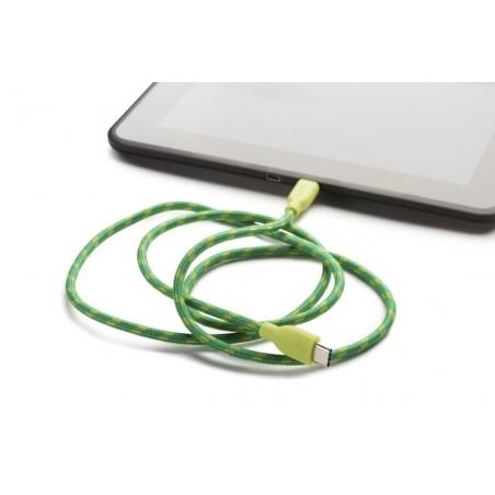 Boompods Retro type C USB kabel met micro USB aanlsuiting (1 meter) - Groen