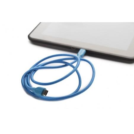 Boompods Retro type C USB kabel met micro USB aanlsuiting (1 meter) - Blauw