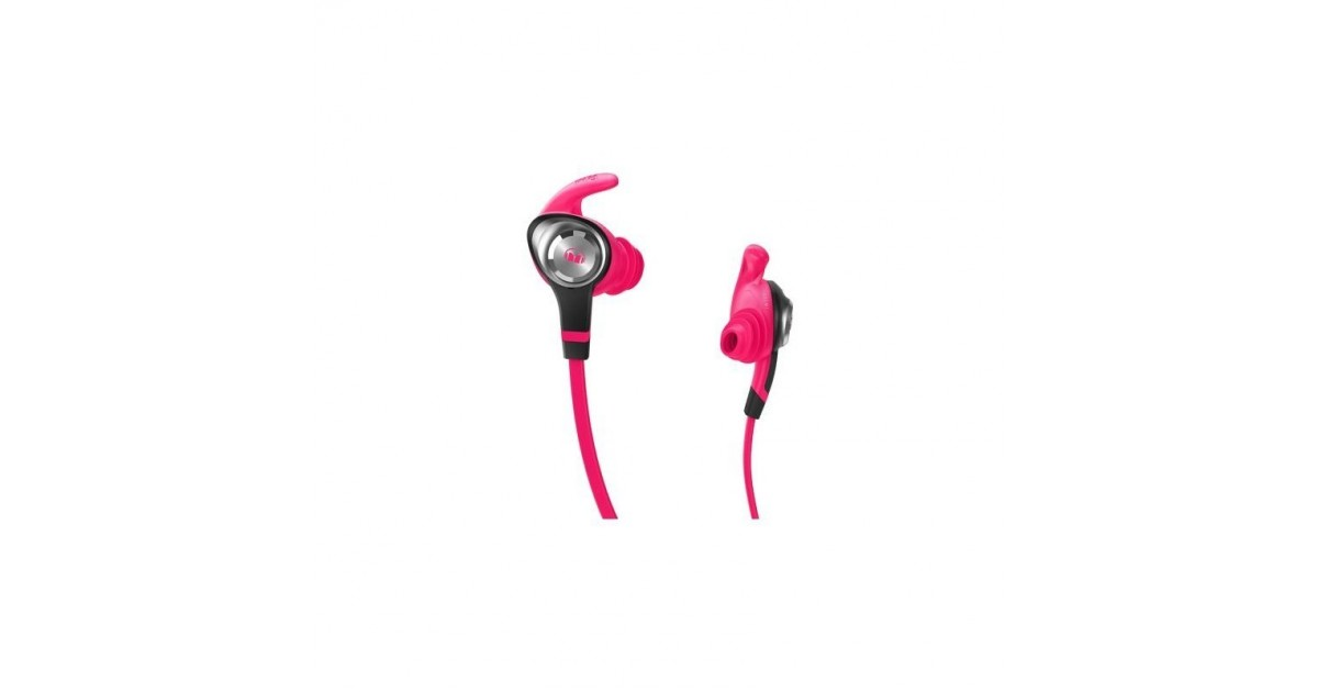 Monster iSport Intensity In-Ear Koptelefoon, 3 knoppen Control Talk Neon Roze