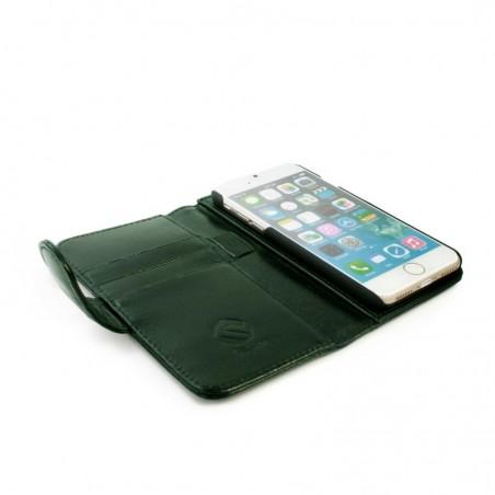 Tuff-Luv Echt Leren Portemonnee Hoesje incl. Scherm Folie voor de Apple Iphone 7 Plus - Groen