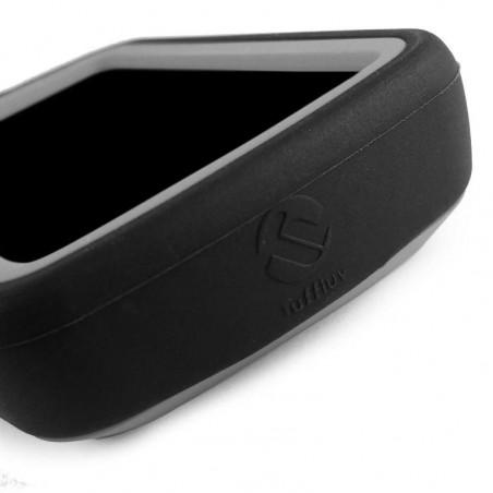 Tuff-Luv - Siliconen Twin Dubbellaagse Skin Case - Voor de Garmin Edge 820 - Zwart / Grijs