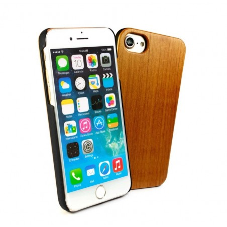 Tuff-Luv - Kersenhout hoes voor Iphone 6s Plus en 7s Plus - Bruin