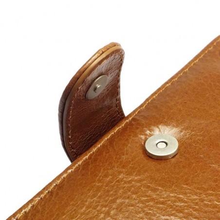 Tuff-Luv - Vintage Lederen Portemonnee hoes met screenprotector voor Sony Xperia C4 - Bruin