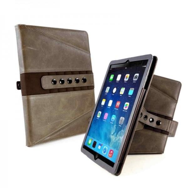 Tuff-luv - Western leren beschermhoes voor de Apple iPad pro 10.5 inch - bruin