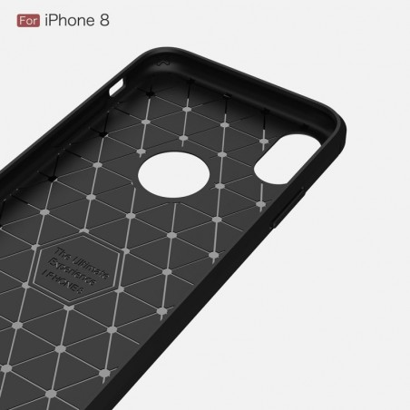 Tuff-luv - Carbon Fiber stijl TPU, Schockbestendige achterkant voor de Apple iPhone X case - blauw