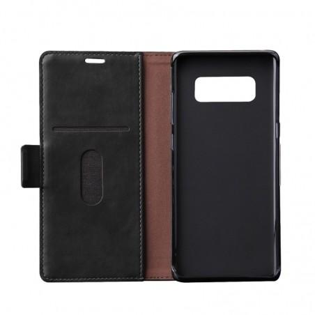 Tuff-luv - Faux leren book-stand case voor de Samsung Galaxy note 8 - zwart
