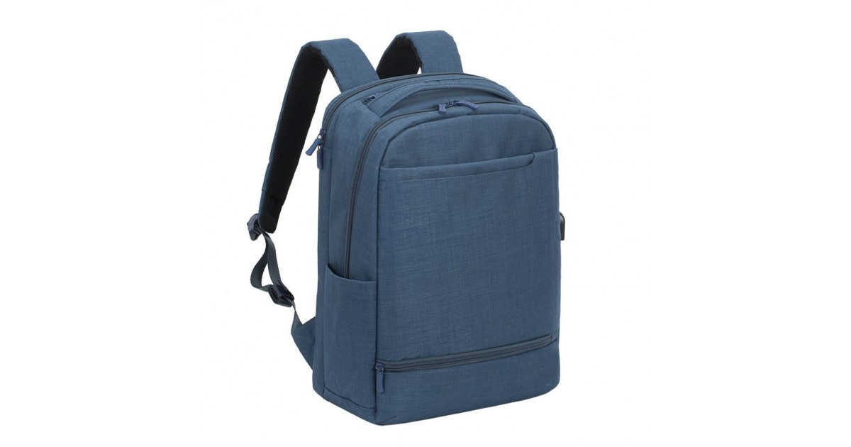 RivaCase - Laptop Rugzak - 17.3 Inch - Extra vak voor 10.1 Inch tablet - Blauw