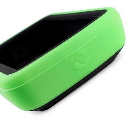 Tuff-Luv - Siliconen Twin Dubbellaagse Skin Case - Voor de Garmin Edge 820 - Groen / Zwart