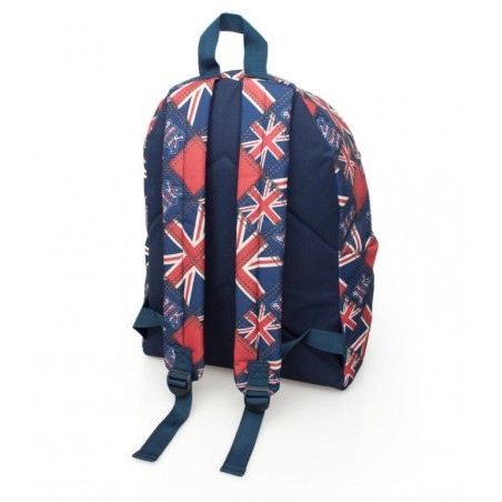 Eastwick Graffiti - Engelse vlag - Rugzak  - 43 cm hoog - Blauw/Rood