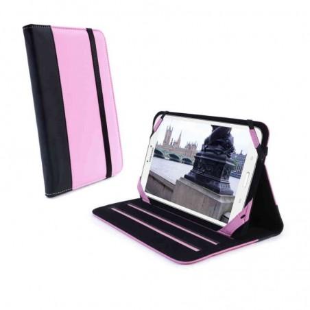 Tuff-Luv Slim-Stand FX Leren case Galaxy Tab 3 (8 inch) roze
