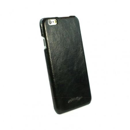 Alston Craig Slim-Shell Klassiek Origineel Leren Hoesje Voor Apple iPhone 6/6s - Zwart