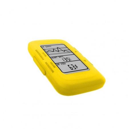 Tuff-Luv Silicone Gel bescherm hoes voor Garmin Edge 500 / 200 en screen protector- Geel