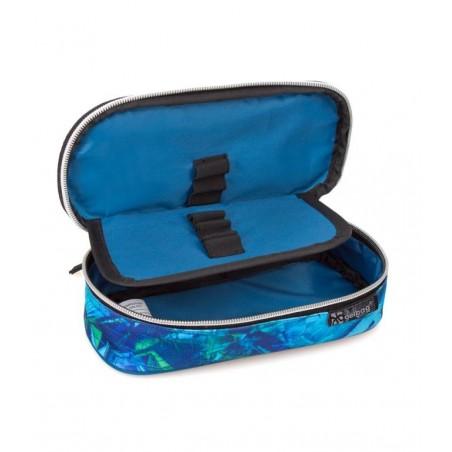 Delbag - Gezicht - Booh - Etui - 21 cm - Blauw