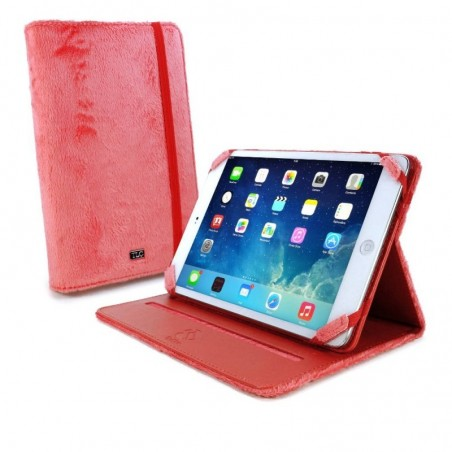 Tuff-Luv Slim-Stand Fluffies case cover for 7 inch tablet inc Kindle Fire HD / HDX roze