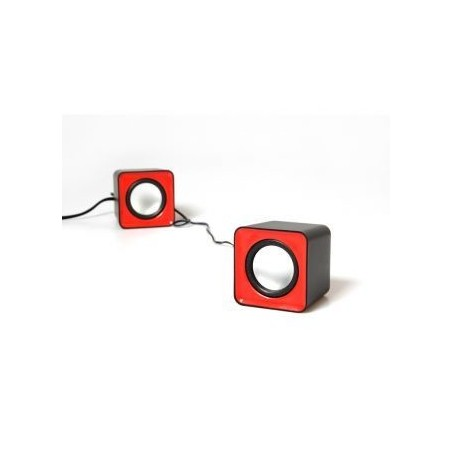 Media-Tech 6W stereo speakers USB rood