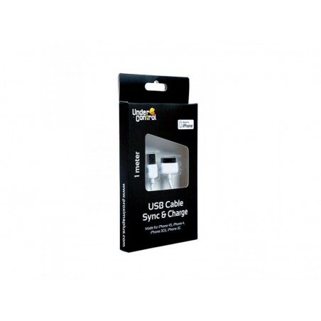 Under Control USB kabel iPhone 4 charge+data MFI