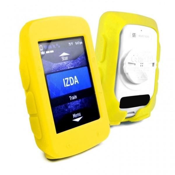 Tuff-Luv Silicone Gel vel beschermhoes voor Garmin Edge 520+ screen protector- Geel