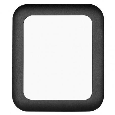 Tuff-Luv - Screenprotector voor Apple Watch 42 mm -  Gehard Tuff-glas(gebogen) - Zwart
