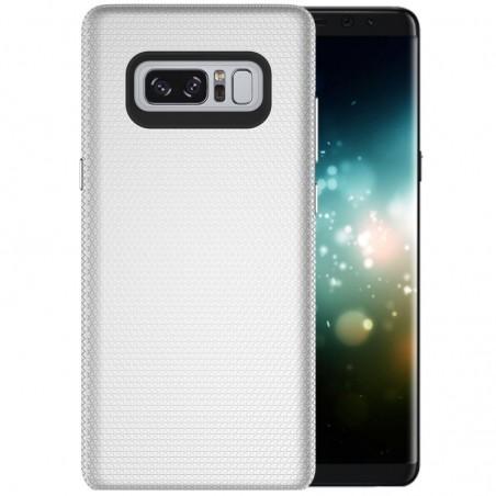 Tuff-luv - Dubbel laags antislip case voor de Samsung Galaxy note 8- zilver