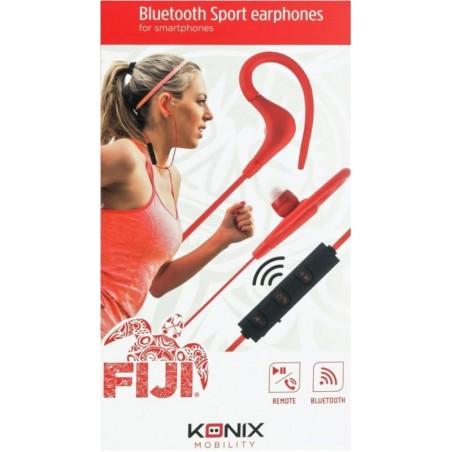 Konix- Fiji bluetooth sport in-ear oortjes -rood