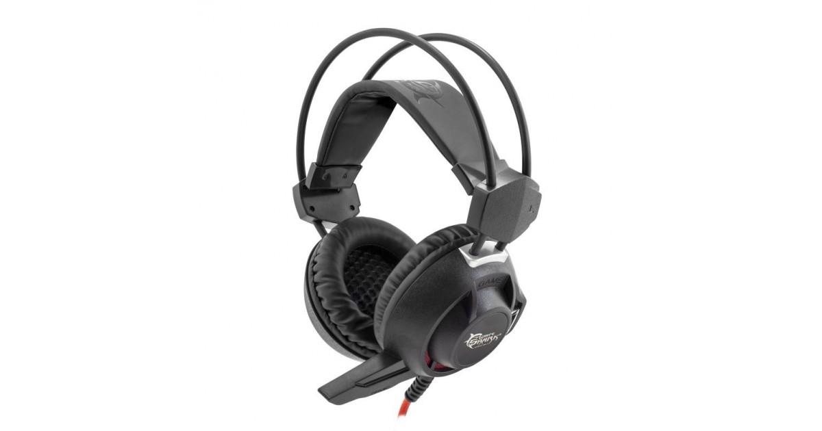 White Shark Leopard Black Gaming Headset