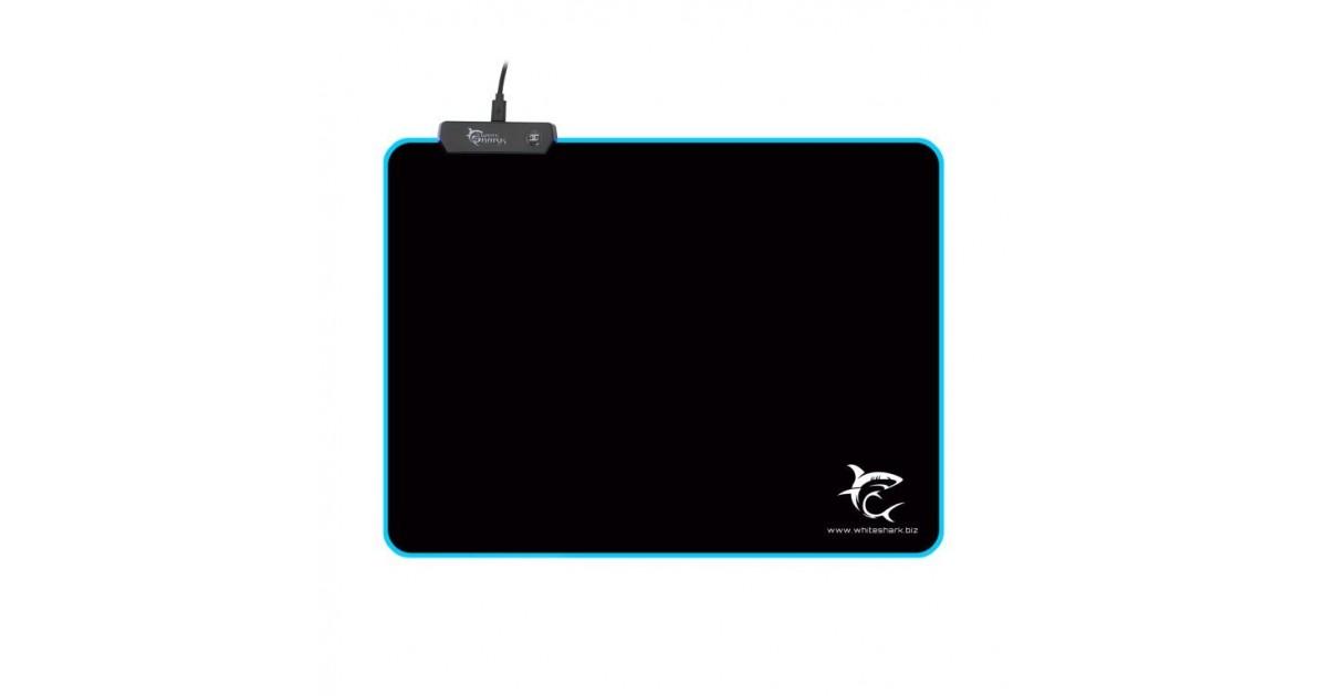 White Shark Luminous L - LED Gaming muismat - 350 x 250 mm
