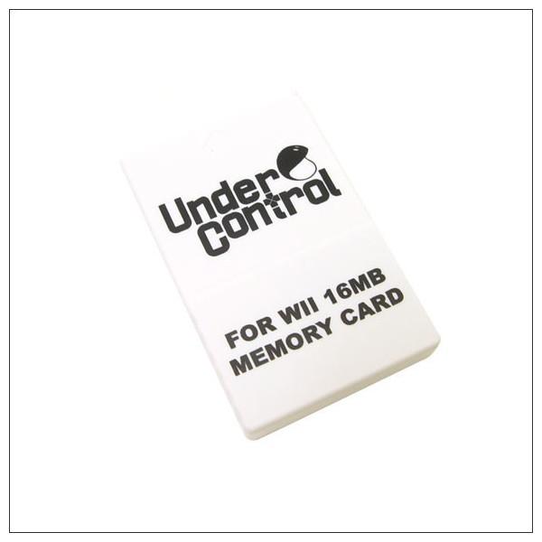 Under Control Memory Card - Wii en GameCube - 16MB - Zwart