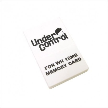 Under Control Memory Card - Wii en GameCube - 16MB - Zwart