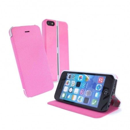 Tuff-Luv Slim-stand case iPhone 5c roze