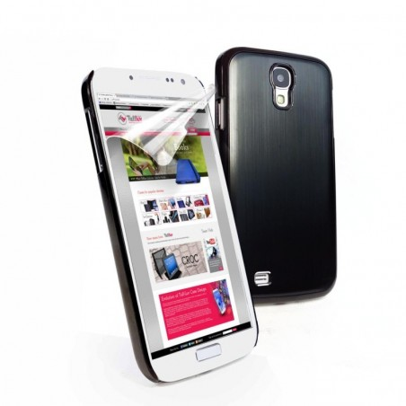 Tuff-Luv Metal shell case Samsung Galaxy S4 zwart